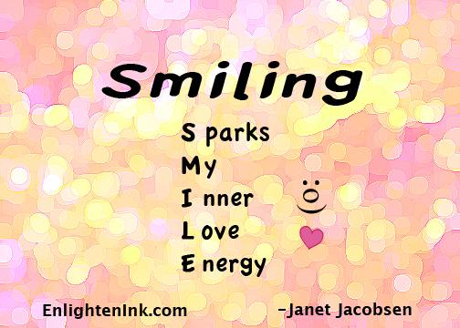 Smiling - Sparks My Inner Love Energy